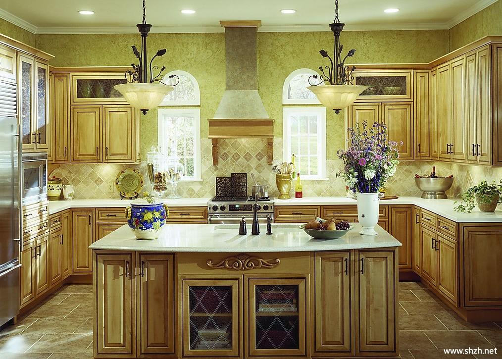 实木橱柜厨房效果图图片