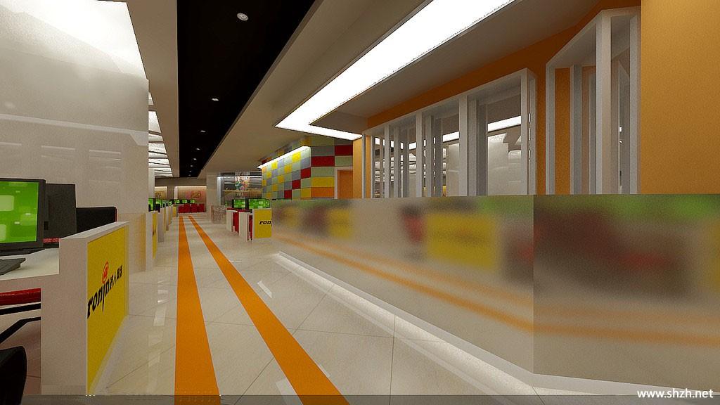 欧式商场走廊