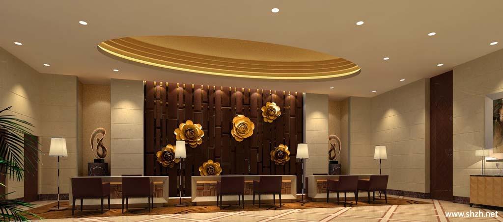 会所ktv前台大厅室内装修设计效果图;