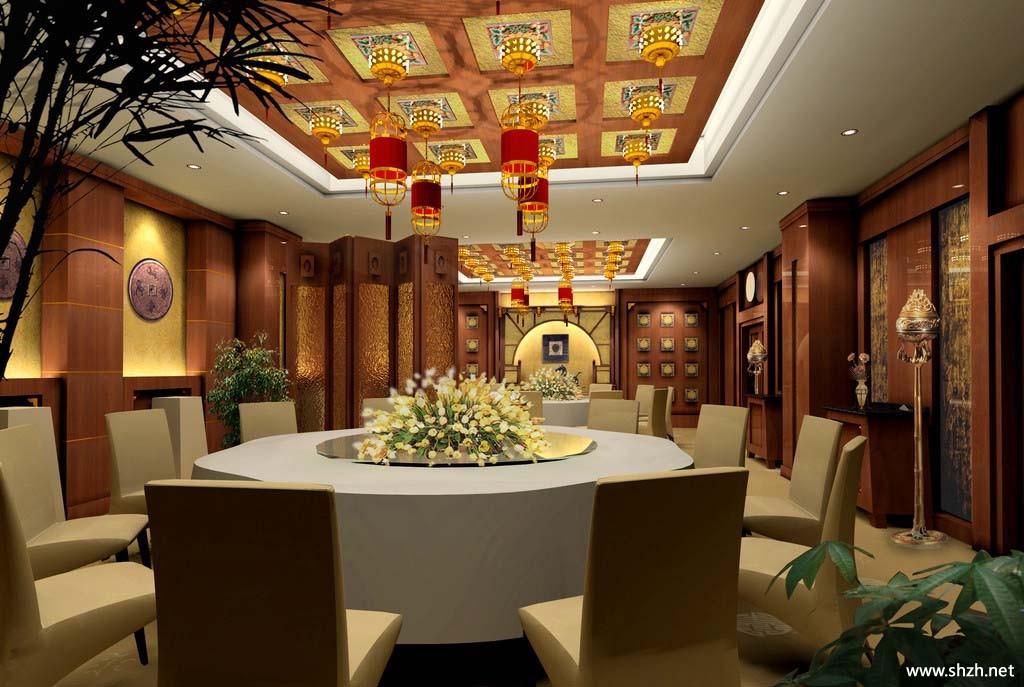 中式餐馆酒店包房
