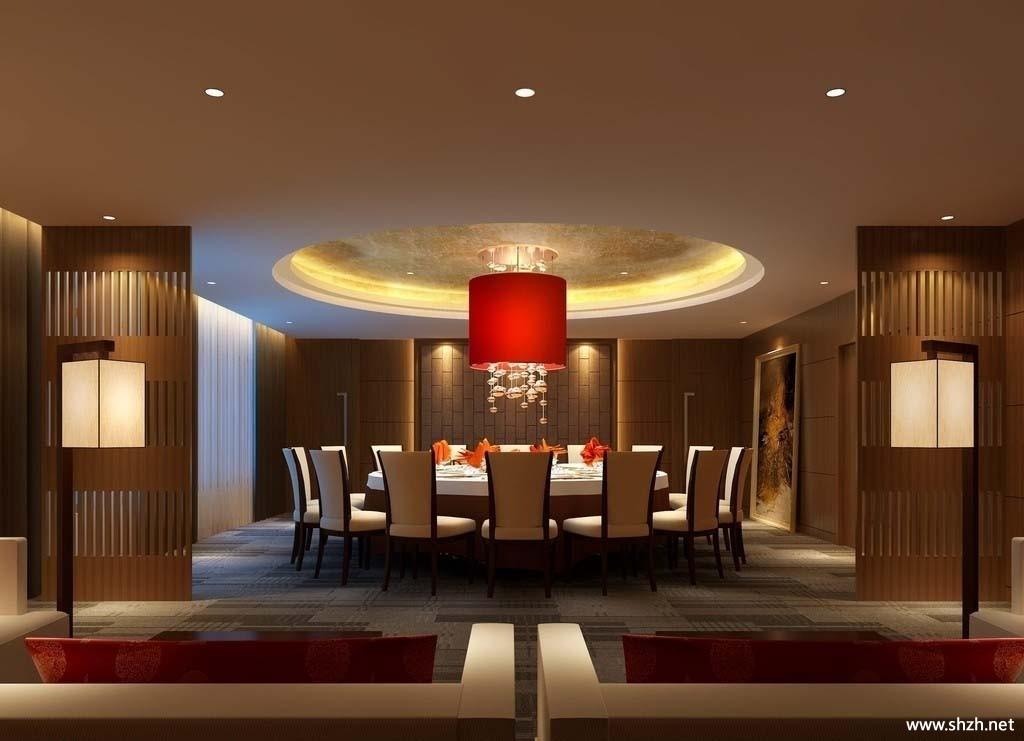 中式酒店餐馆效果图