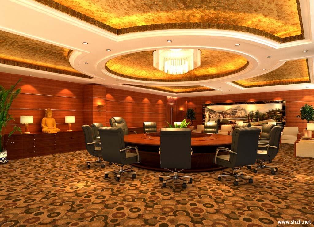 会议室装修; 欧式圆桌会议室设计图_装修效果图_室内设计; 欧式圆桌会