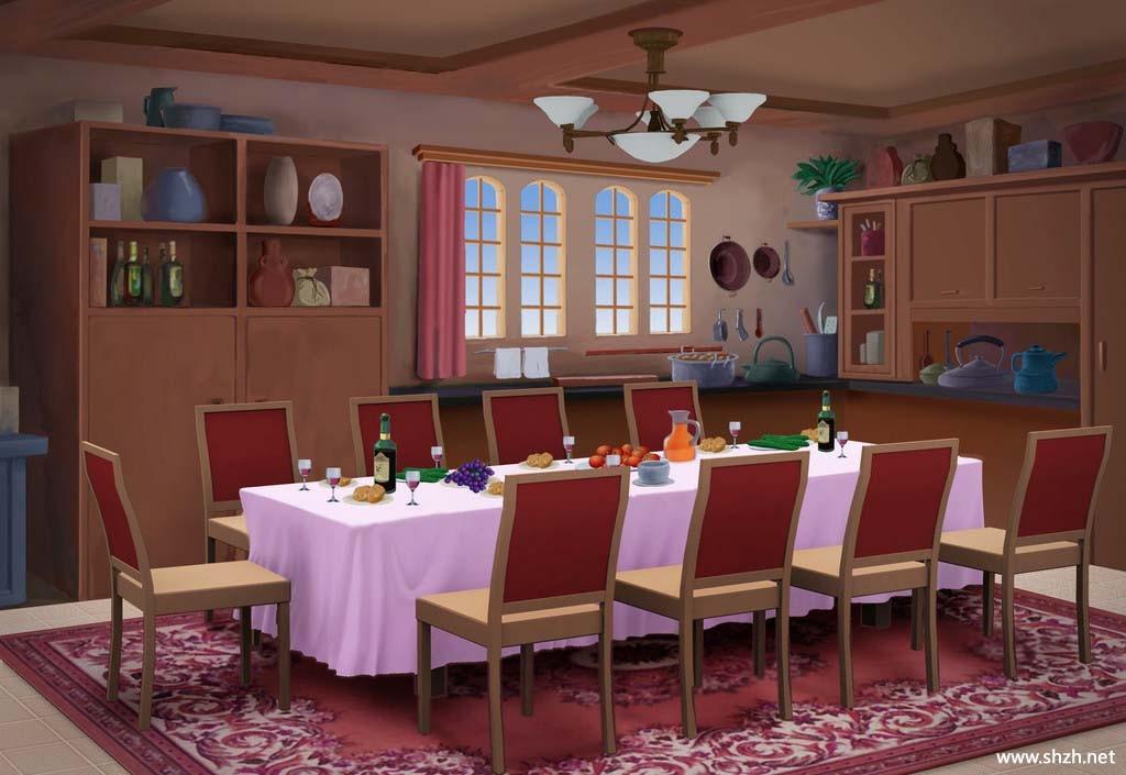欧式餐厅效果图