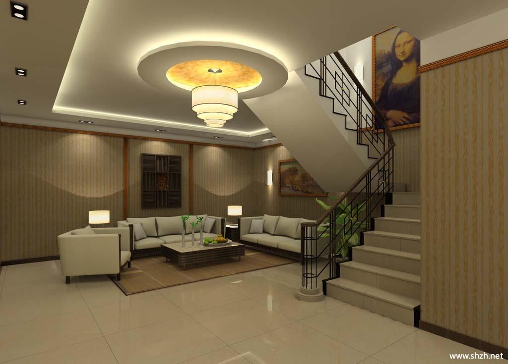 别墅客厅楼梯