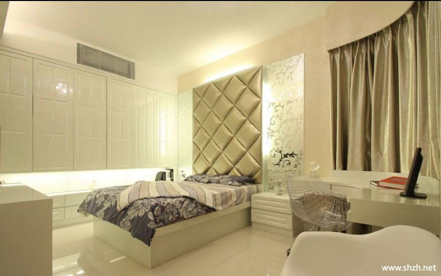 卧室壁橱背景墙-上海装潢网