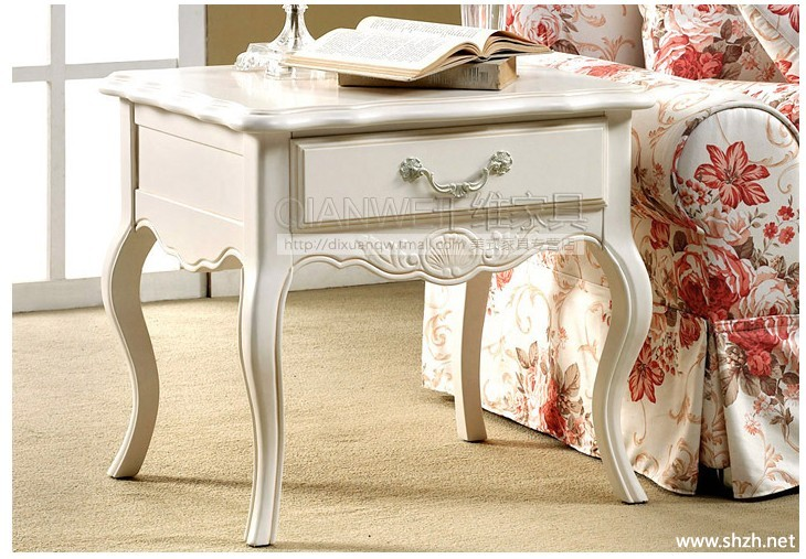欧式田园家具实木方几英式方茶几客厅方桌