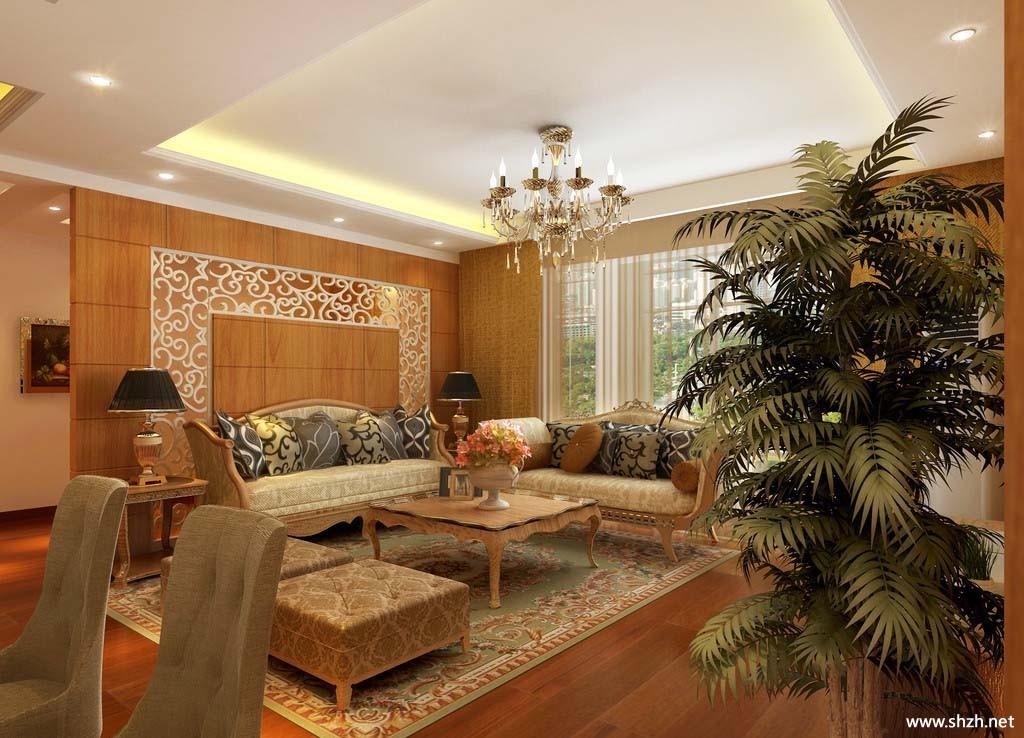 欧式客厅效果图-上海装潢网
