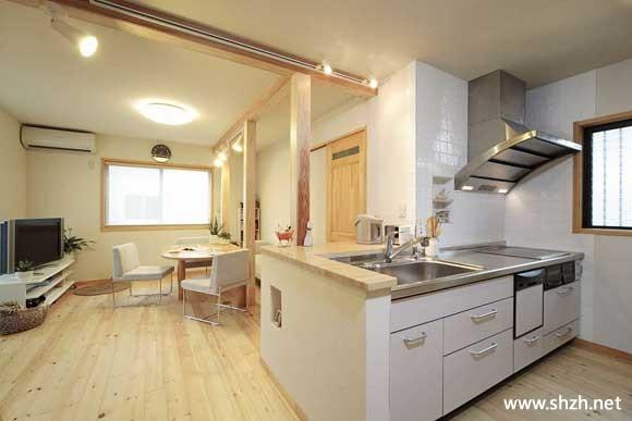 家居diy装修效果图 让76平米墙内增容; 餐厅装修效果图99; 厨房的设计