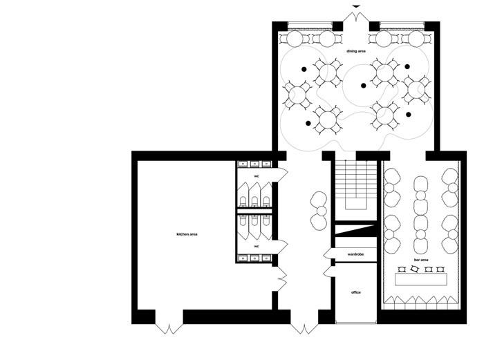 龙卷风 餐厅; 餐厅设计平面图; 基辅twister 餐厅