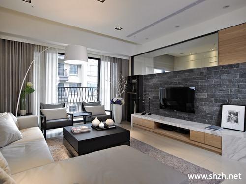 现代简约客厅电视柜背景墙