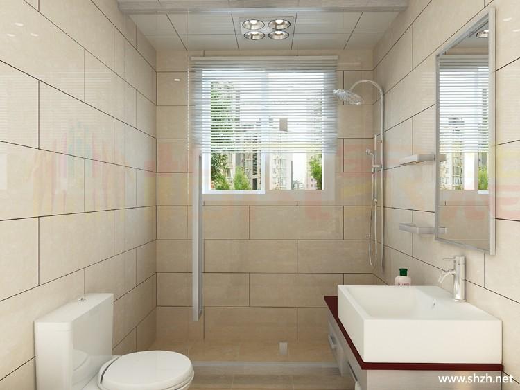 简约卫生间台盆马桶图片
