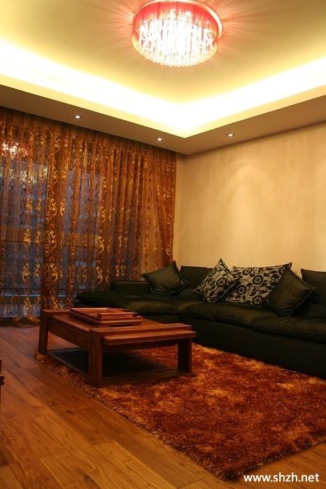 灯饰 典雅对称成流行   客厅灯具图片 中式风格四居室客厅影高清图片