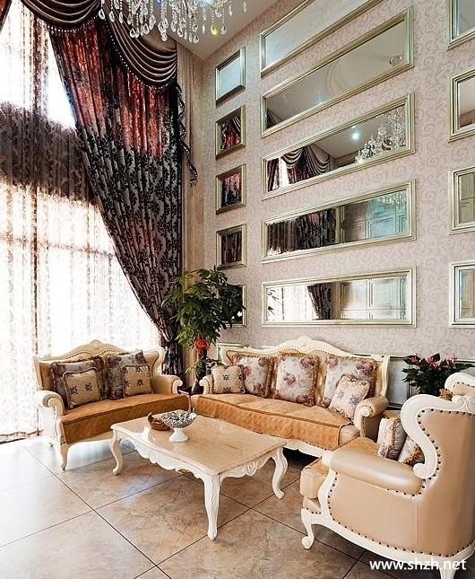 欧式别墅客厅背景墙