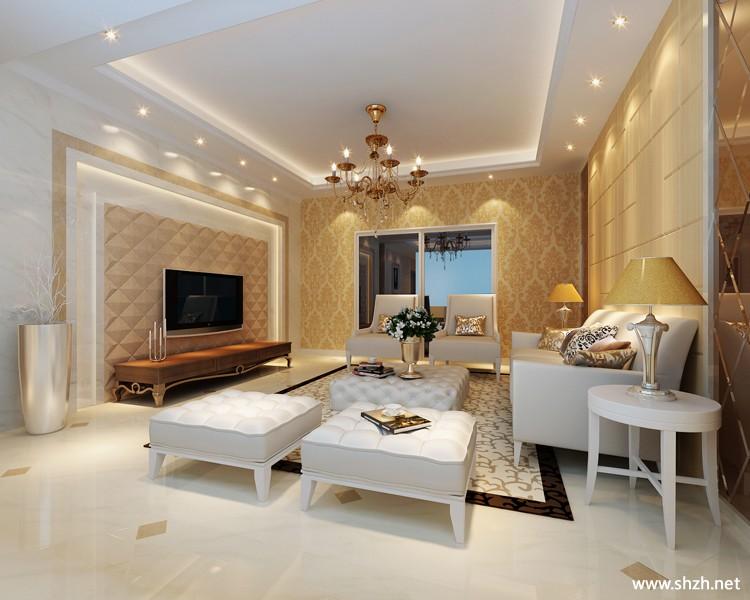 欧式客厅沙发茶几-上海装潢网