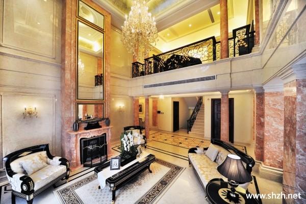 别墅跃层客厅别墅复式图片张作霖图片