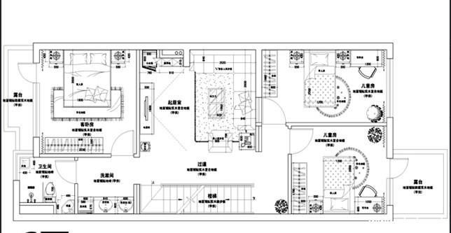 别墅平面图;; 300平方别墅设计图; 方形小广场平面图