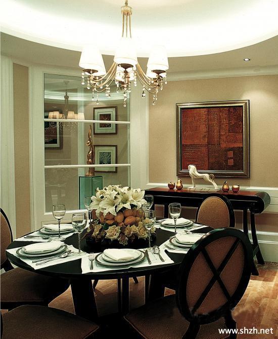 简约欧式餐厅餐桌-上海装潢网