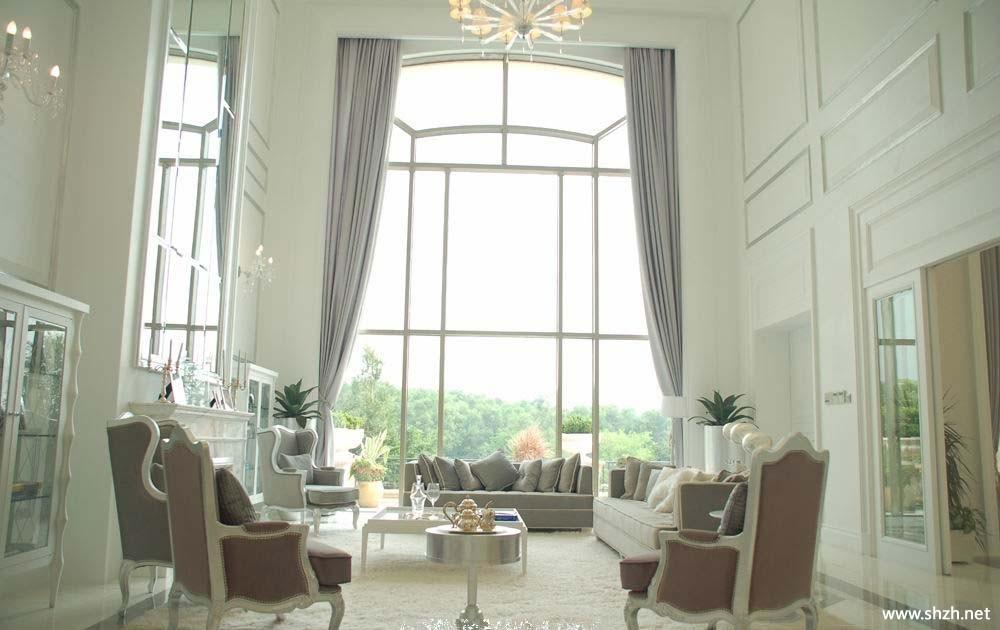 欧式别墅客厅窗帘