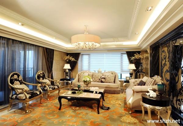 豪华欧式客厅吊顶灯具
