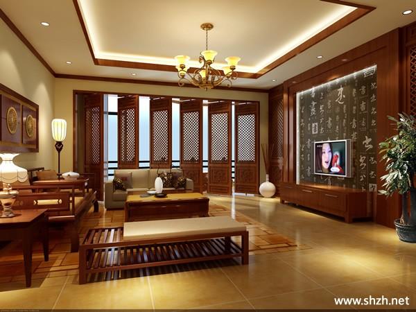 中式影视厅效果图