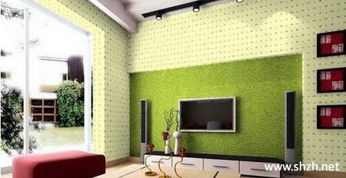 现代欧式客厅背景墙效果图-上海装潢网