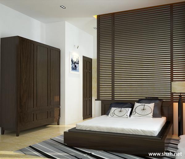 代简约卧室家具壁橱效果图高清图片