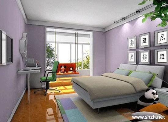 现代简约冷色卧室阳台/飘窗床装饰摆件小户型效果图