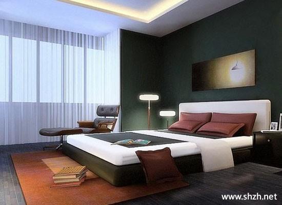 現代簡約暖色臥室陽臺/飄窗床裝飾擺件小戶型效果圖