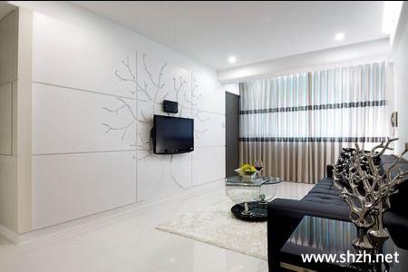 现代简约欧式客厅背景墙家具效果图