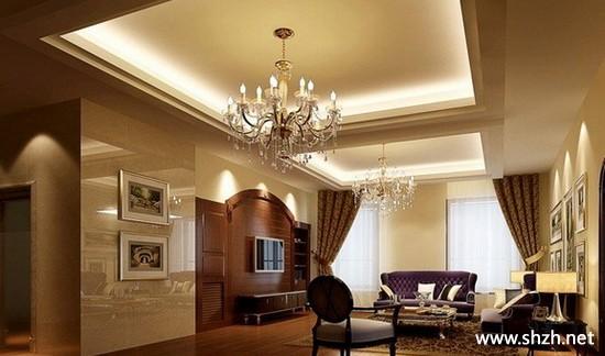 现代简约欧式暖色客厅背景墙效果图