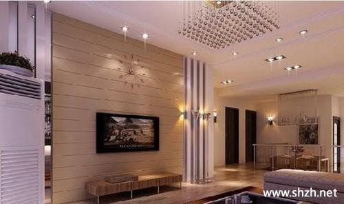 现代简约欧式客厅背景墙效果图