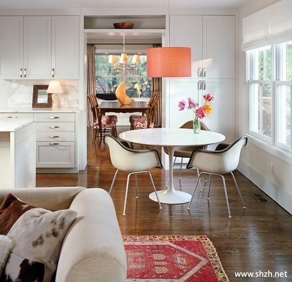 餐厅客厅厨房橱柜沙发餐桌吊顶灯具效果图