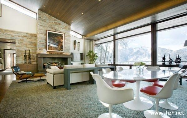 设计 郁金香/客厅餐厅阳台/飘窗沙发茶几餐桌壁炉背景墙装饰画效果图