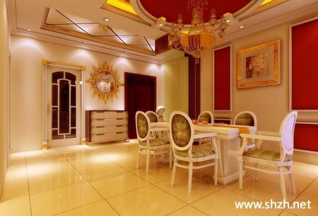 现代欧式暖色客厅餐厅沙发装饰画装饰摆件效果图