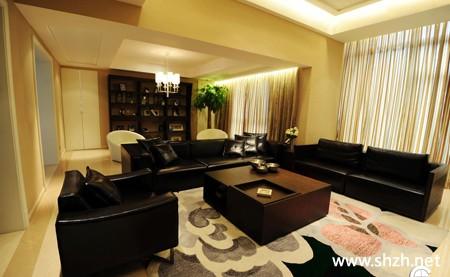现代欧式暖色客厅沙发书架/书柜装饰摆件背景墙效果图