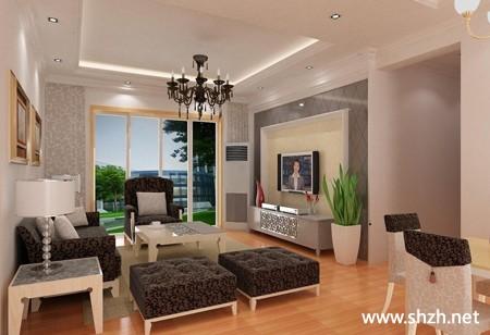 现代欧式暖色沙发电视柜装饰摆件效果图客厅
