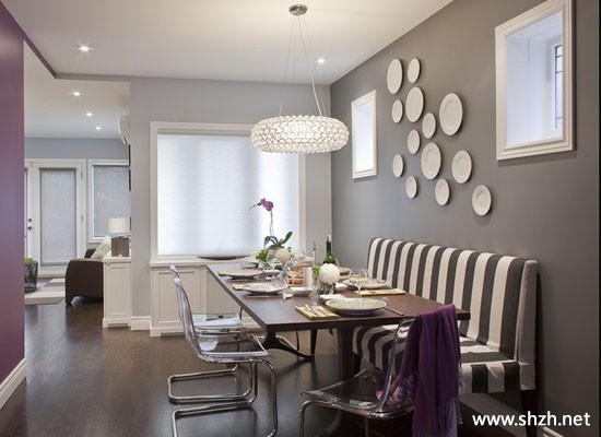 现代简约客厅餐桌背景墙效果图