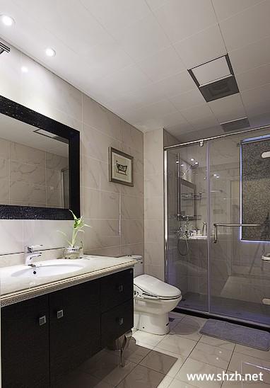 新古典卫生间马桶台盆淋浴房实景图