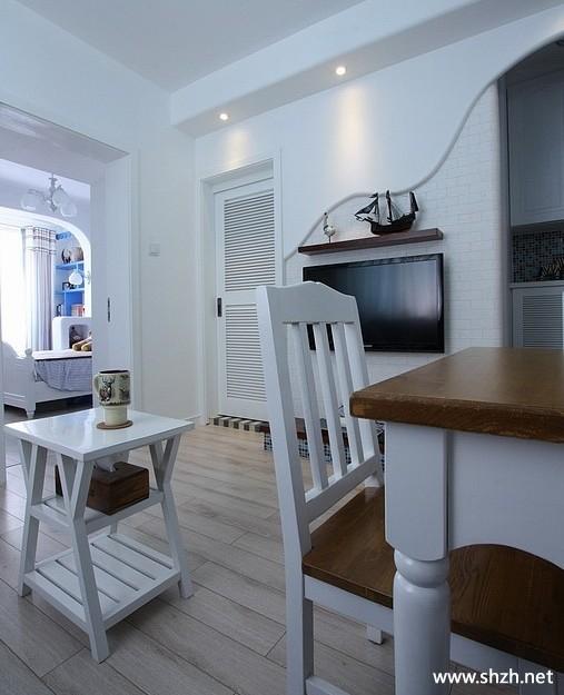 客厅 地中海/地中海客厅餐厅茶几餐桌实景图