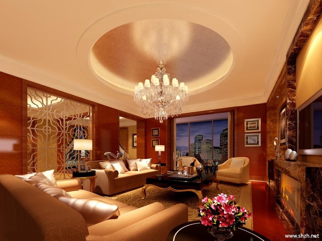 欧式风格客厅装修效果图欣赏-上海装潢网