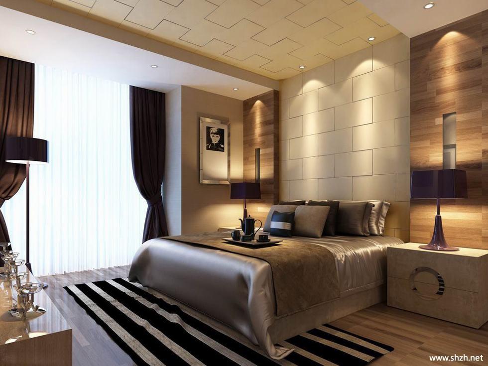现代欧式客厅卧室大户型效果图