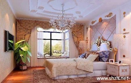卧室吊顶造型图片-上海装潢网