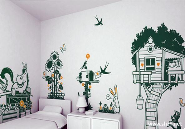 韩式简约清新卧室手绘墙