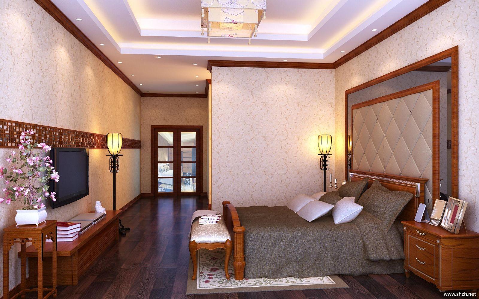 欧式豪华古典老人房卧室