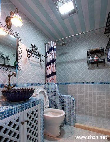 地中海田园马赛克卫生间浴室柜
