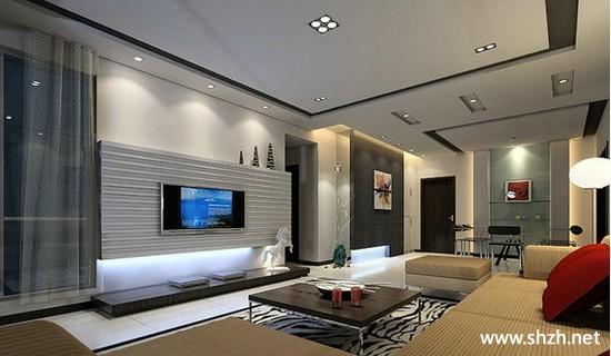 欧式现代简约客厅电视背景墙