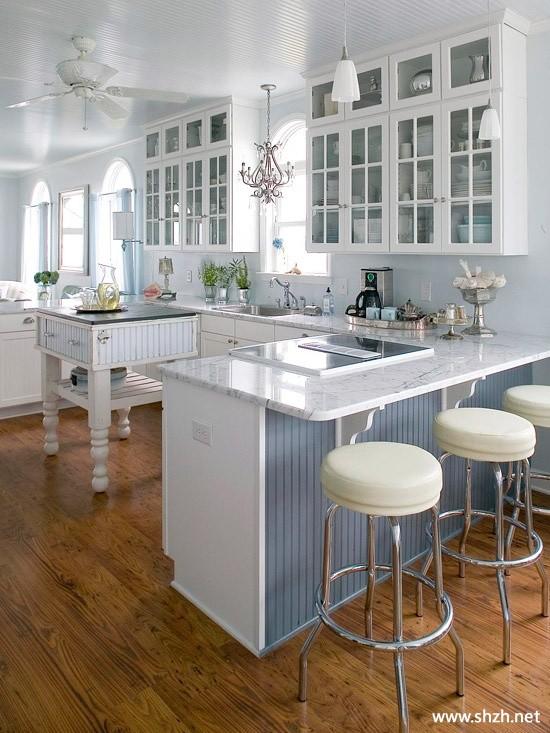 北欧风现代简约厨房橱柜-上海装潢网