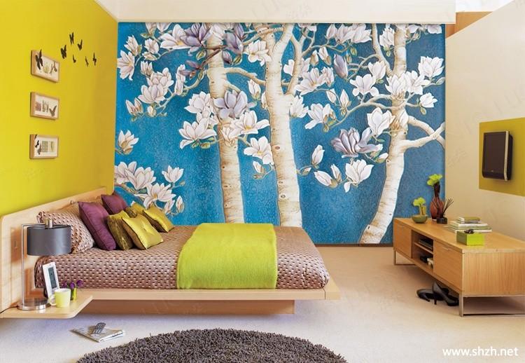 韩式另类混搭田园卧室手绘墙