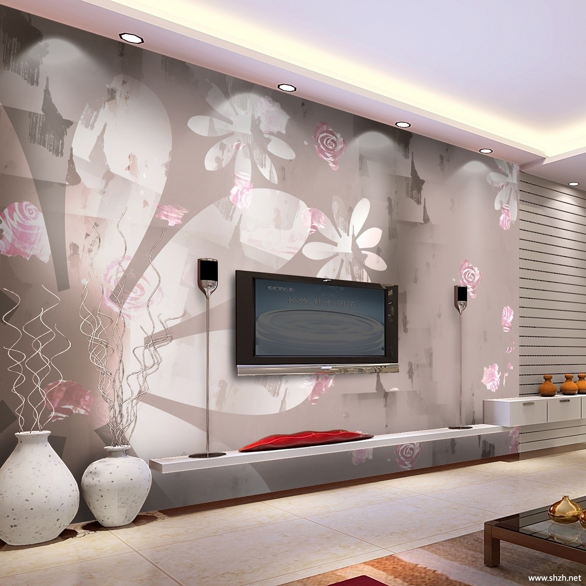 Interior Design Drawing Room Wall :