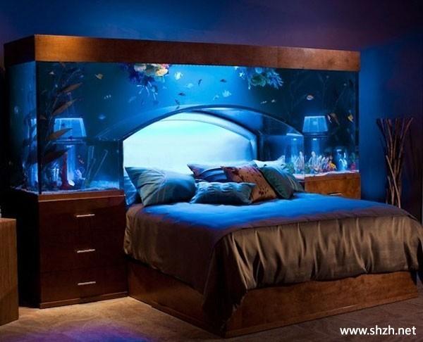 欧式韩式混搭豪华暖色卧室床背景墙